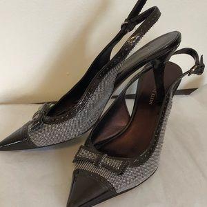 Anne Klein Brown Pointed Toe Slingbacks